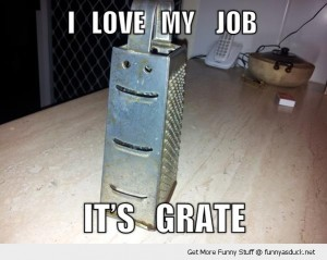 funny-happy-cheese-grater-love-this-job-pun-pics